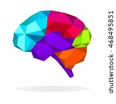 colorful  brain polygon...   Shutterstock .eps vector #468495851