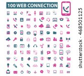 web connection icons | Shutterstock .eps vector #468501125