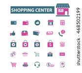 shopping center icons | Shutterstock .eps vector #468502199