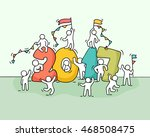 2017 happy new year background. ... | Shutterstock .eps vector #468508475