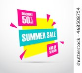 summer sale. this weekend... | Shutterstock .eps vector #468508754