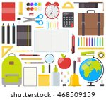 large set of isolated school... | Shutterstock .eps vector #468509159