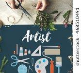 arts and craft artistic artist... | Shutterstock . vector #468510491