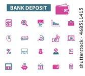 bank deposit icons | Shutterstock .eps vector #468511415