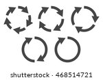repetitive process icon with... | Shutterstock .eps vector #468514721