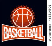 streetball icon logo in vintage ... | Shutterstock .eps vector #468514901