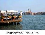 Restaurant in Venice - stock photo