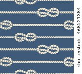 nautical ropes with knots... | Shutterstock .eps vector #468521384