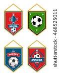 soccer pennants set isolated... | Shutterstock .eps vector #468525011