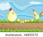 chicken family | Shutterstock . vector #46853173