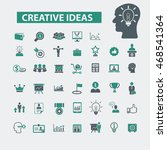 creative ideas icons | Shutterstock .eps vector #468541364