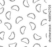 vector seamless pattern hand... | Shutterstock .eps vector #468542705