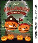 vintage halloween poster design ... | Shutterstock .eps vector #468544835