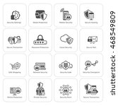 security and protection icons... | Shutterstock . vector #468549809
