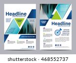 blue brochure layout design... | Shutterstock .eps vector #468552737