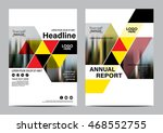 red brochure layout design... | Shutterstock .eps vector #468552755