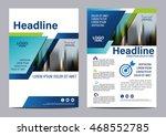 blue brochure layout design... | Shutterstock .eps vector #468552785