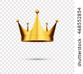 isolated gold crown  eps 10 | Shutterstock .eps vector #468552854