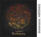 hand drawn outline items for... | Shutterstock .eps vector #468556631