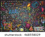 physical formulas and... | Shutterstock .eps vector #468558029