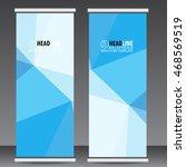 blue roll up business brochure...   Shutterstock .eps vector #468569519
