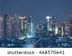 blurred bokeh lights night view ... | Shutterstock . vector #468570641