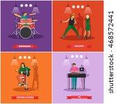 vector set of musician and... | Shutterstock .eps vector #468572441