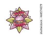 food logo old school tattoo...   Shutterstock .eps vector #468574079