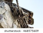 close up of an old roof... | Shutterstock . vector #468575609