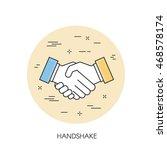 handshake vector thin line icon | Shutterstock .eps vector #468578174