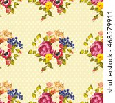 seamless floral pattern with... | Shutterstock .eps vector #468579911