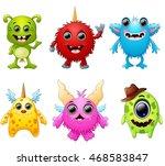 halloween monster set collection | Shutterstock .eps vector #468583847