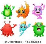 halloween monster set collection | Shutterstock . vector #468583865