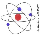 illustrated atom with protons... | Shutterstock . vector #46858807