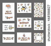 set of vector greeting card... | Shutterstock .eps vector #468588827