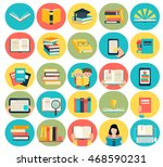 colorful books icons  signs and ... | Shutterstock .eps vector #468590231