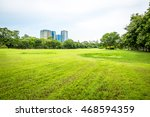 beautiful park scene in public... | Shutterstock . vector #468594359