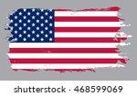 grunge usa flag.american flag... | Shutterstock .eps vector #468599069