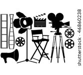 film industry silhouette icons... | Shutterstock .eps vector #46860238