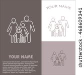 line icon  a family   Shutterstock .eps vector #468609341