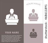 speaker icon. orator speaking... | Shutterstock .eps vector #468611891