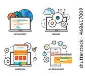 vector illustration of mobile... | Shutterstock .eps vector #468617009