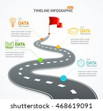 infographic timeline and road... | Shutterstock .eps vector #468619091