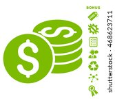 dollar coin stack icon with... | Shutterstock .eps vector #468623711