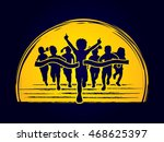 winner running  group of... | Shutterstock .eps vector #468625397