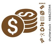dollar coin stack icon with... | Shutterstock .eps vector #468625544