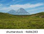 volcano kluchevskoj and kamen...   Shutterstock . vector #4686283