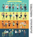 big set business people... | Shutterstock . vector #468629801