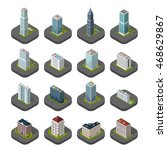 skyscraper logo building icon....   Shutterstock . vector #468629867