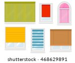 realistic white plastic windows ...   Shutterstock .eps vector #468629891